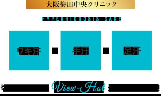 大阪梅田中央クリニックHYPERHIDROSIS care/切らないワキガView-Hot最新機器投入